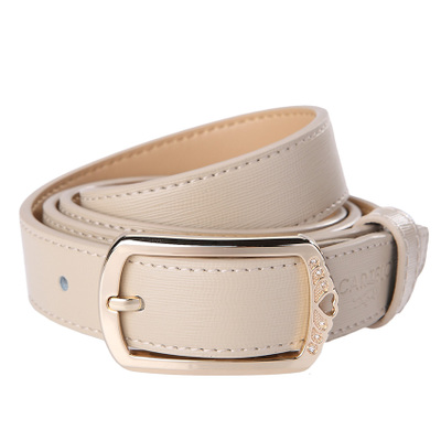 Ms cartelo cartelo belt leather belt authentic cream-colored joker lady belts on sale