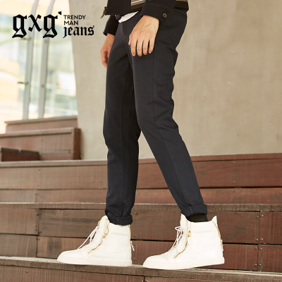 gxg.1978 new winter 2014 men's casual pants feet navy blue trousers Slim Straight 44802148