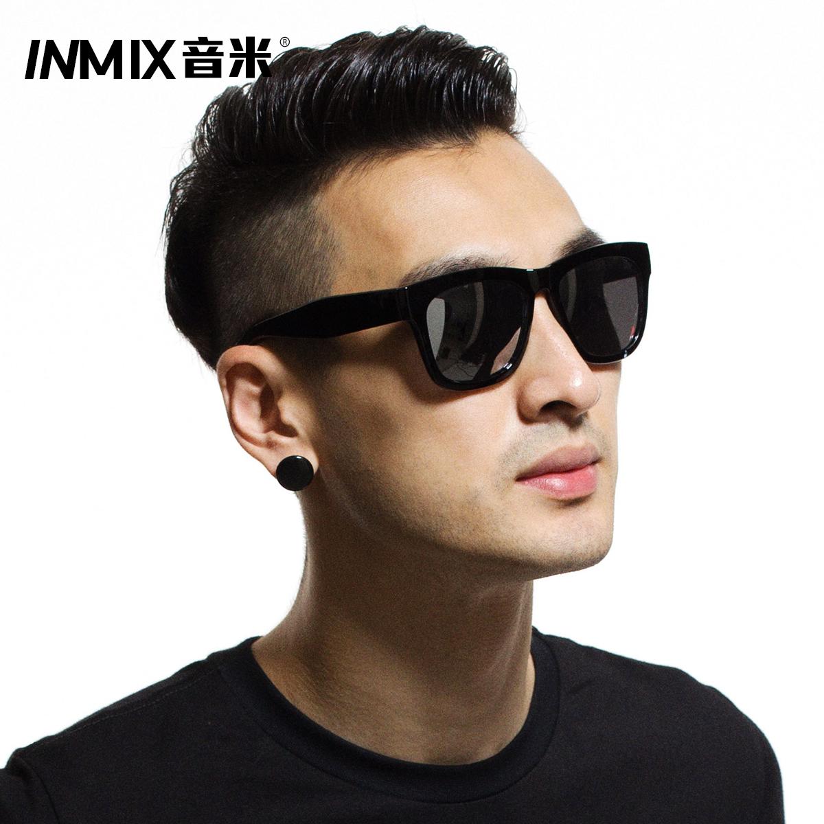 音米太阳镜男士复古大框墨镜 开车眼睛偏光镜司机专用太阳眼镜潮