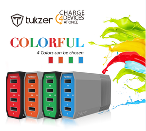 TUKZER 4-Port USB Desktop Charger 4USB充电器  6A智能充电器