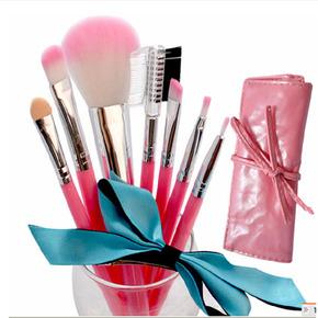 套刷 化妆刷套装 初学者彩妆工具 带刷包 7支刷 爱恋粉色系