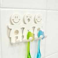 韩国创可爱意吸盘式笑脸太阳花小熊牙刷架 牙刷挂 卫浴洗漱收纳架