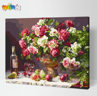 Jia Cai days Yan boutique diy digital painting the living room landscape painting flowers hand sharply modern minimalist