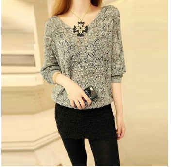Thin sweater hollow out blouse кардиган свитер
