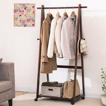 家逸衣架落地卧室衣帽架实木落地卧室挂衣架创意木质衣架衣服架子