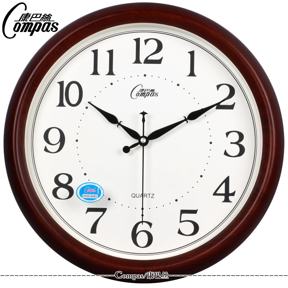 康巴丝14寸欧式挂钟客厅创意办公静音石英钟表挂表新古典创意挂钟
