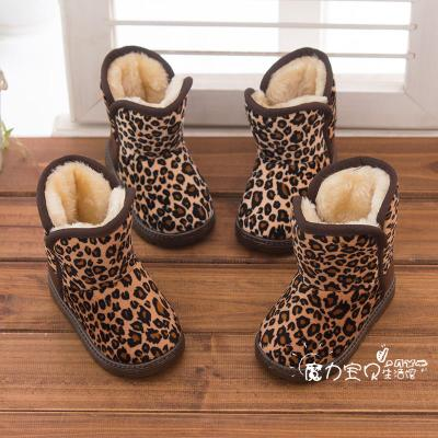 Boys and girls cotton boots-in-tube snow boots cotton padded shoes for children infant girls winter thick cotton-padded non-slip tide models