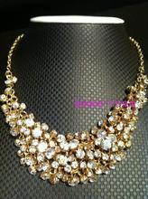 South Korea bought, luxury shining diamond necklace, golden Norwegian bride