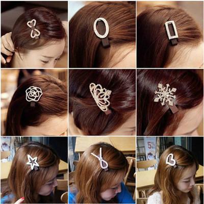 Buy 3 get one free shipping Korea Korean hair jewelry rhinestone tiara hair bands hairpin card Liu beach clip bow
