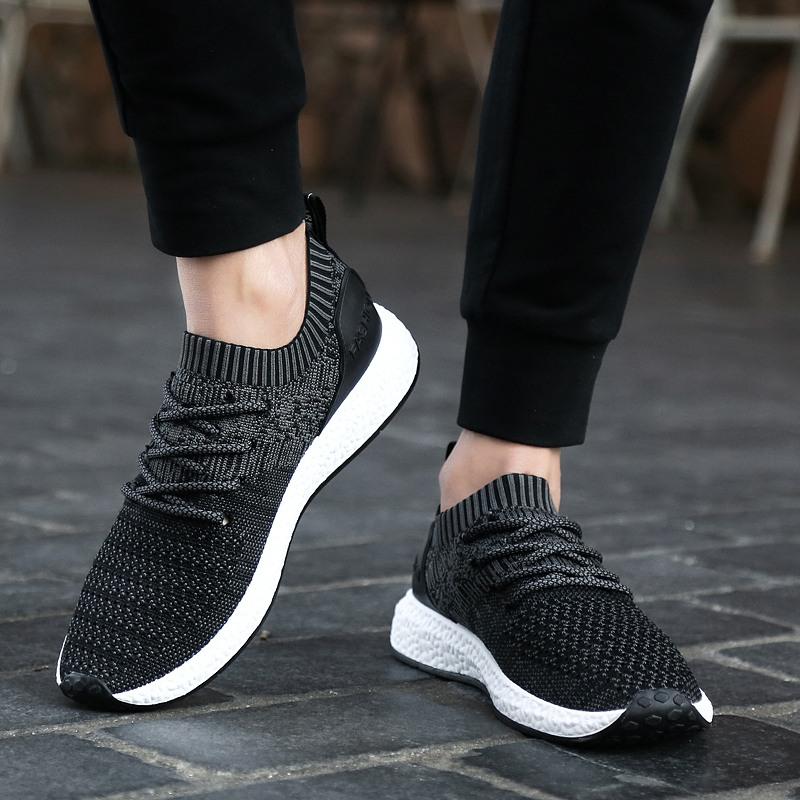 男士运动鞋透气休闲鞋潮鞋子夏季网鞋轻便英伦飞织男鞋韩版跑步鞋