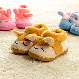 Parent-child family lamb cute baby shoes men and women shoes high-top shoes children package with cotton slippers warm home