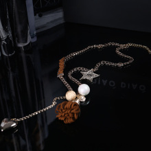 Tone of Europe stand 2014 new winter accessories Personality tassels of beads heart-shaped pendant sweater chain, 57129