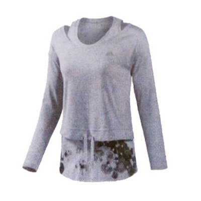Adidas / Adidas short-sleeved women's long sleeve sweater plus thick velvet jacket new campaign T-shirt M68654