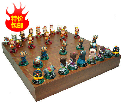 Genuine three-dimensional puzzle game Westward Journey Q-2014 Chinese chess figures ex gratia payments
