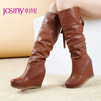 Zhuo poetry Nepalese shoes 2013 new winter boots in Europe and America in winter high boots knight boots casual female high-heeled lace boots