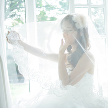 Guangxi beauty to marry art Long trailing lace veil the bride wedding veil Korean aesthetic veil the sweet wind