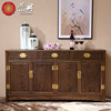 Chinese-style mahogany furniture living room three pumping of solid wood dining side cabinet combination of wenge plain antique audio-visual cabinet lockers