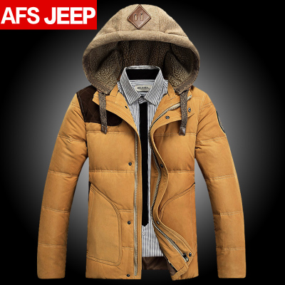 AFS JEEP Battlefield Jeep Men Slim Down Men's short section of thick coat authentic Korean-season surges