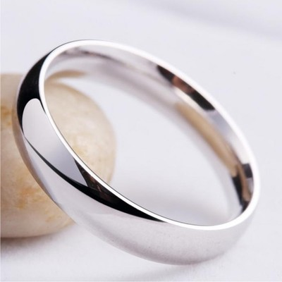 Meath Simple Love 925 silver rings couple rings male female Korean smooth tail ring ring ring ring lettering on