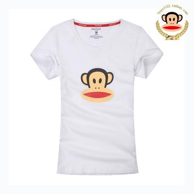 [新年特价] 2015夏装新款大嘴猴t恤女 韩版白色纯棉短袖女士半袖彩色背心显瘦