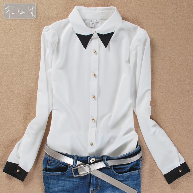 Черно Белая Блузка В Спб