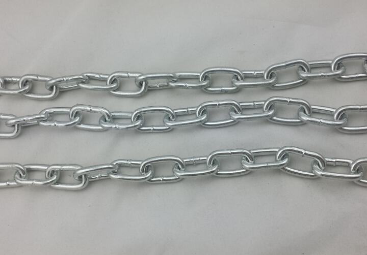 铁链条 链条链 园林绿化链条 铁质装饰镀锌 焊缝围栏v链条镜图片