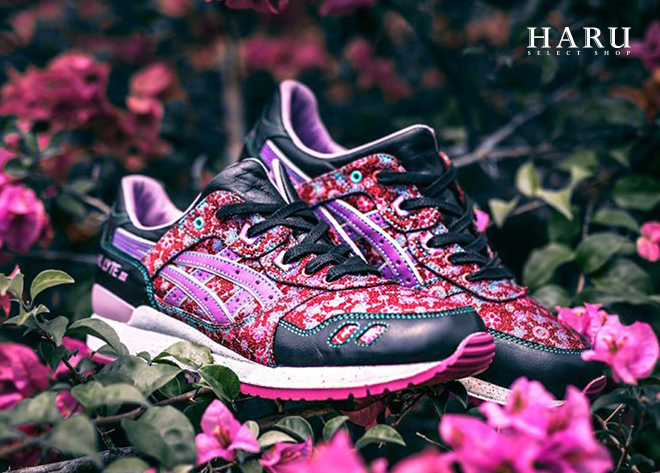 现货 Limited Edt ASICS GEL-LYTE 3 万代兰刺繡反光 H51XQ3-433