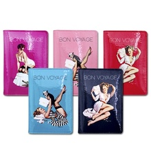 South Korea's authentic Marianne Kate lovely retro fashion pictorial passport holder Tide of cortical passport sets