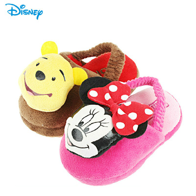 Genuine Disney children's cotton slippers winter 2014 models 1-3 years old trailer home skid cotton baby boys and girls 3D trailer