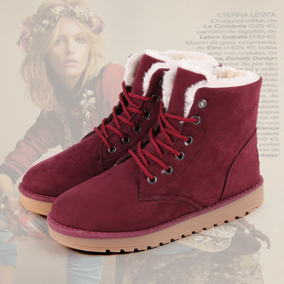 2014 winter new Korean wild influx of casual shoes lace snow boots warm thick WD5157