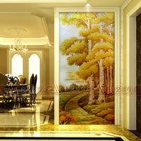 精品促销【黄金大道】艺术玻璃 电视沙发背景墙 客厅隔断雕刻工艺