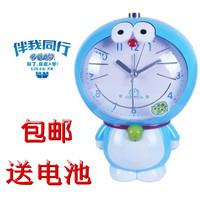 包邮哆啦a梦儿童静音创意卡通会说话叮当机器猫夜灯可爱时尚闹钟
