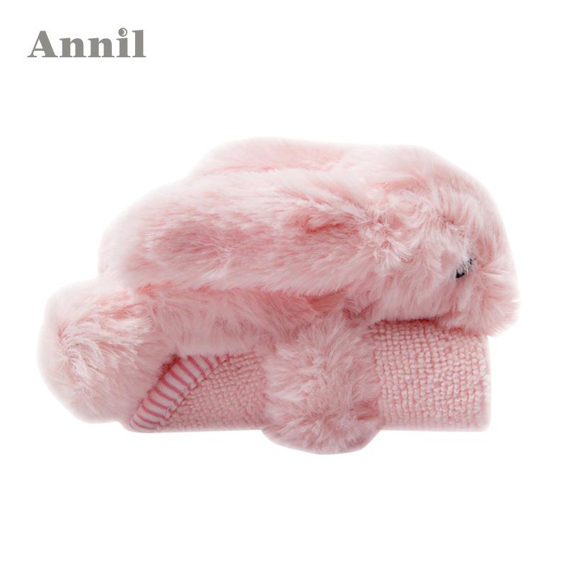 annil安奈儿童装 儿童宝宝小兔毛巾套装EM518299 正品分销