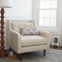 特价 北欧欧式小户型现代沙发 高档单人亚麻布艺沙发 JY3115-单