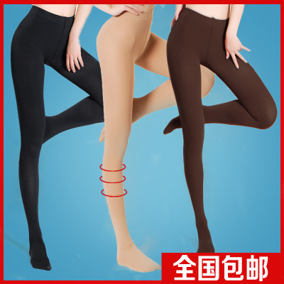 Langsha stockings rompers anti hook wire bottoming socks thick flesh-colored pantyhose spring and autumn velvet stockings big yards