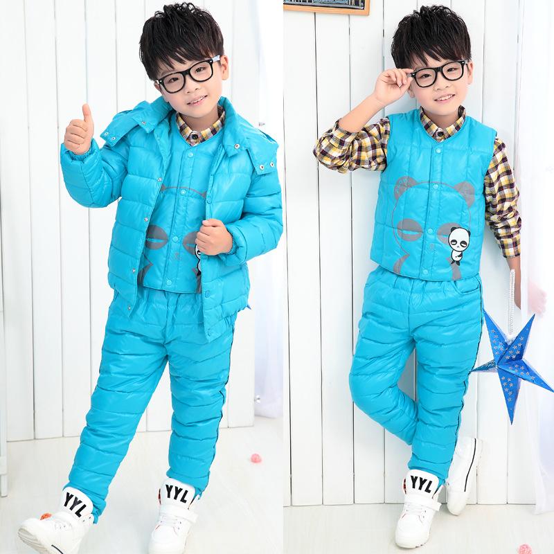 童装秋冬新款儿童羽绒服套装中大男童女童羽绒外套