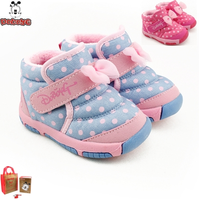 2014 winter funds bobdog padded non-slip soft-soled shoes for girls baby infant toddler shoes snow boots 120mm length about