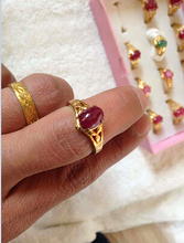 Hit myanmar ruby ring ring surface purple coagulation lane