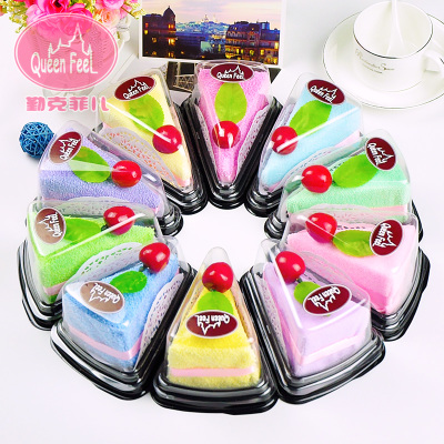 National Day activities gift wedding birthday mousse cake towel creative gift wholesale packed sandwich