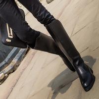 时尚潮英伦牛仔靴骑士靴马丁靴高筒男靴皮靴阅兵靴仪仗靴长筒靴