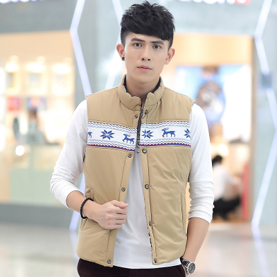 Autumn and winter coat to wear double-sided vest jacket Korean men's fashion trend of Korean-style vest vest to wear on both sides