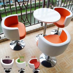 一桌两椅三椅 木 洽谈桌椅组合 休闲阳台小圆桌 接待桌 简约家具