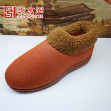Step jing cabinet old Beijing cloth shoes to 14 years in the winter the new men's slippery wear-resisting comfortable soft cotton slippers package mail household