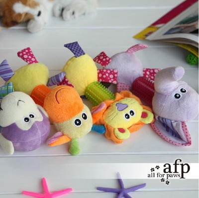 AFP pet toys / dog toys - cartoon baby tooth cleaning rod plush talking toys / toy teething rings