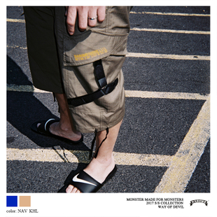 DABOMB[COMBAT UNIT]CARGO SHORTS IN Y SYSTEM工装短裤