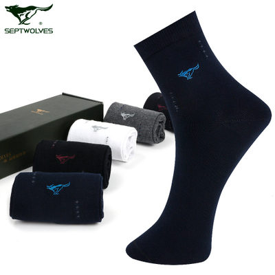 Seven wolves socks cotton socks for men deodorant in tube socks cotton casual sports seasons wicking socks men