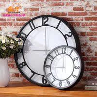 新品 创意12寸20寸数字挂钟客厅卧室现代简约个性静音圆形时钟