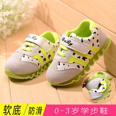 秋季学步鞋宝宝鞋软底婴儿鞋男童女童鞋0-1一