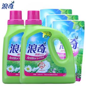 浪奇有效除菌洗衣液2kg*2瓶装+380g*3袋 超值10.28斤装