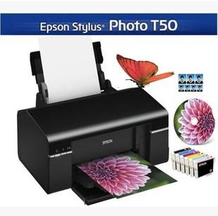 爱普生R330照片打印机6色T50升级L801摆摊手机蓝牙打印机6色喷墨